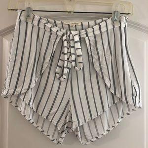 LA Hearts Striped Shorts